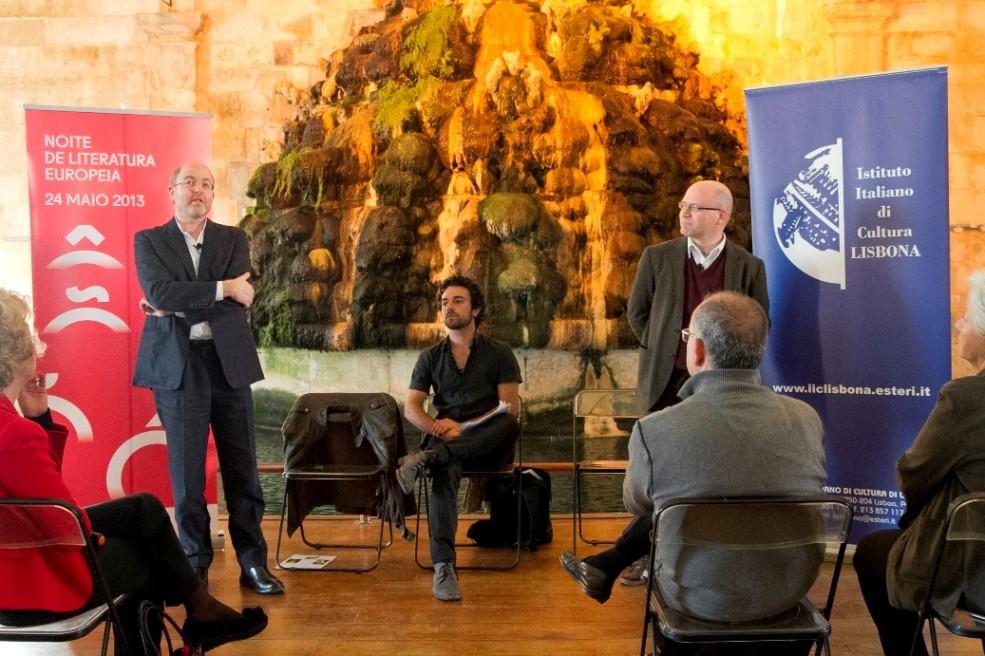 "Massimo Gramellini, Pedro Sousa Loureiro, Marcello Sacco – ""Tem Bons Sonhos"" © Istituto Italiano di Cultura"
